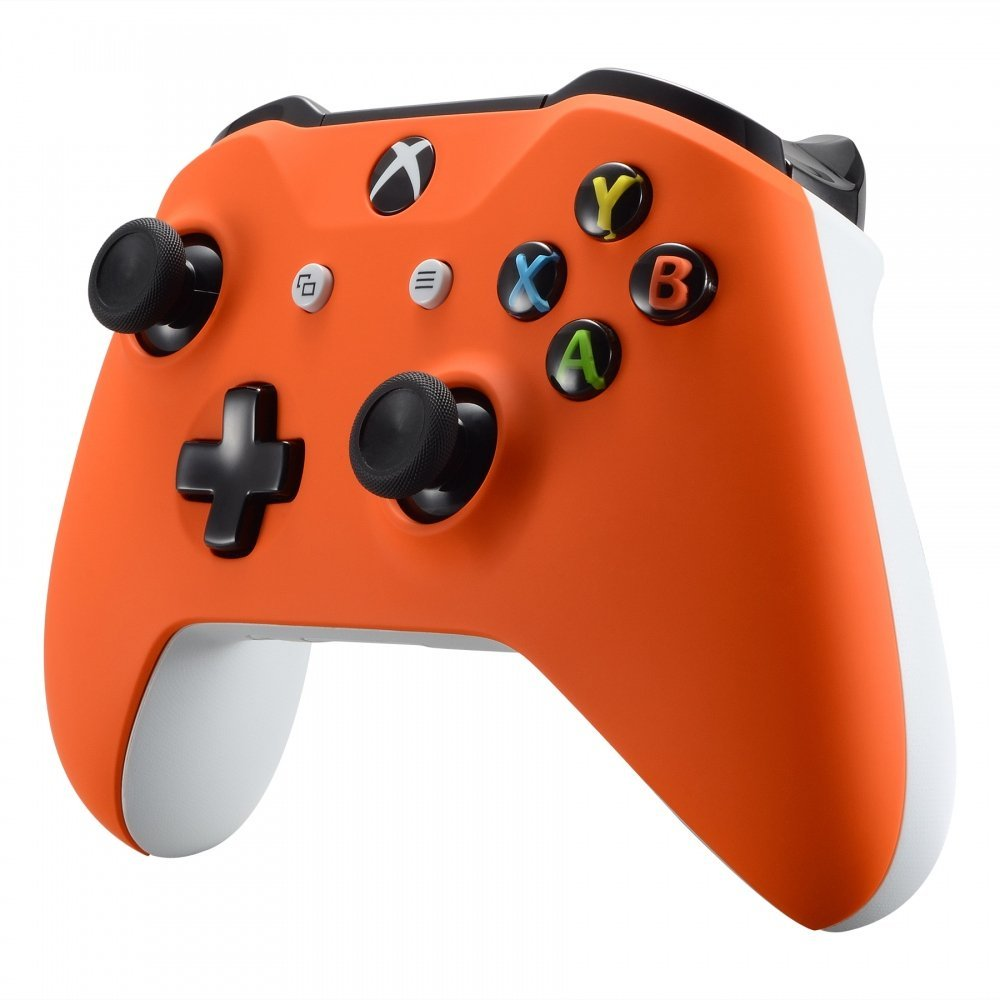 Custom Xbox One S Controller - Soft Touch Orange & White - Avid Controllers