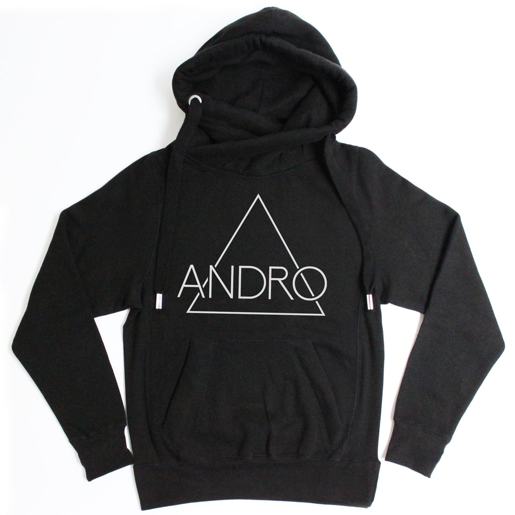 ANDRO HOODIE | BLACK - ANDRO CLOTHING GENDER FLUID ANDROGYNOUS CLOTHES FOR NON-BINARY LESBIAN AND LGBTQ+ FASHION