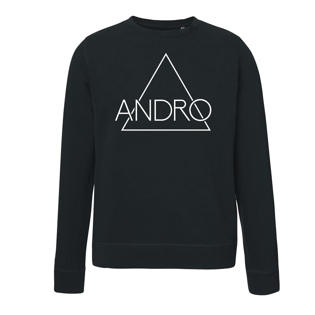 ANDRO SWEATER | BLACK - ANDRO CLOTHING GENDER FLUID ANDROGYNOUS CLOTHES FOR NON-BINARY LESBIAN AND LGBTQ+ FASHION