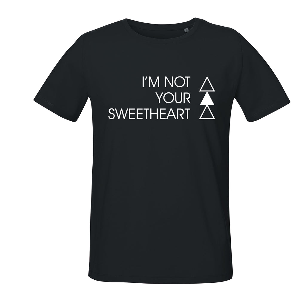 SWEETHEART T-SHIRT | BLACK - ANDRO CLOTHING GENDER FLUID ANDROGYNOUS CLOTHES FOR NON-BINARY LESBIAN AND LGBTQ+ FASHION