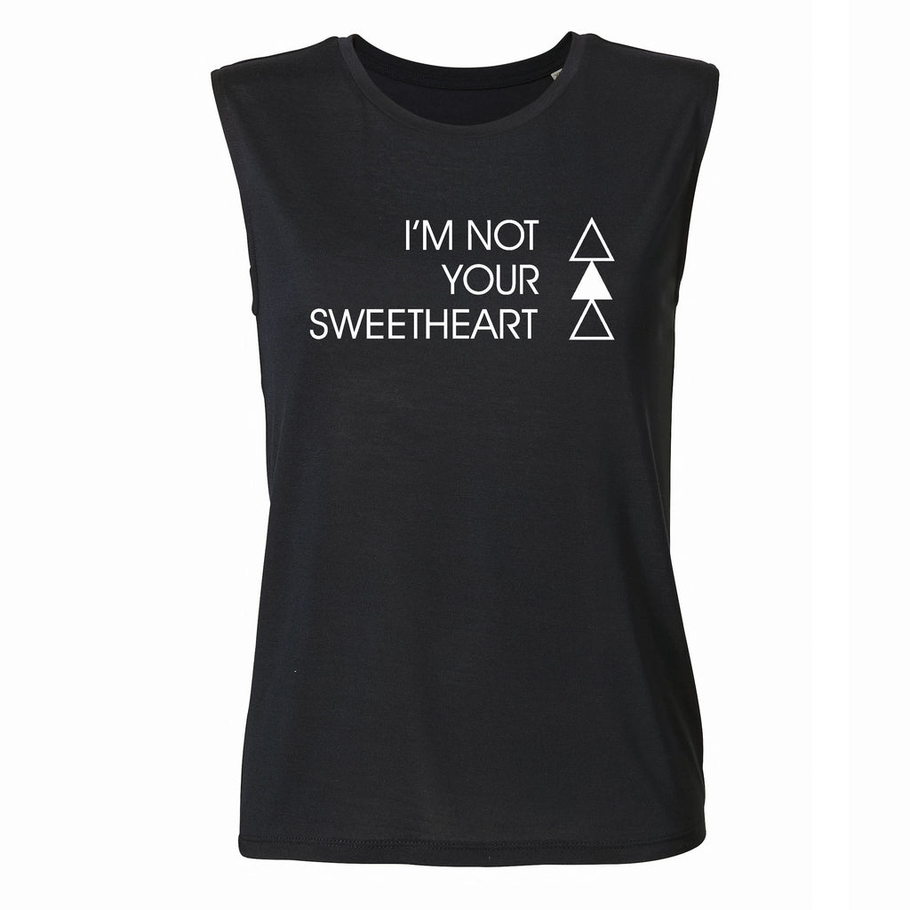 SWEATHEART TANK | BLACK - ANDRO CLOTHING GENDER FLUID ANDROGYNOUS CLOTHES FOR NON-BINARY LESBIAN AND LGBTQ+ FASHION