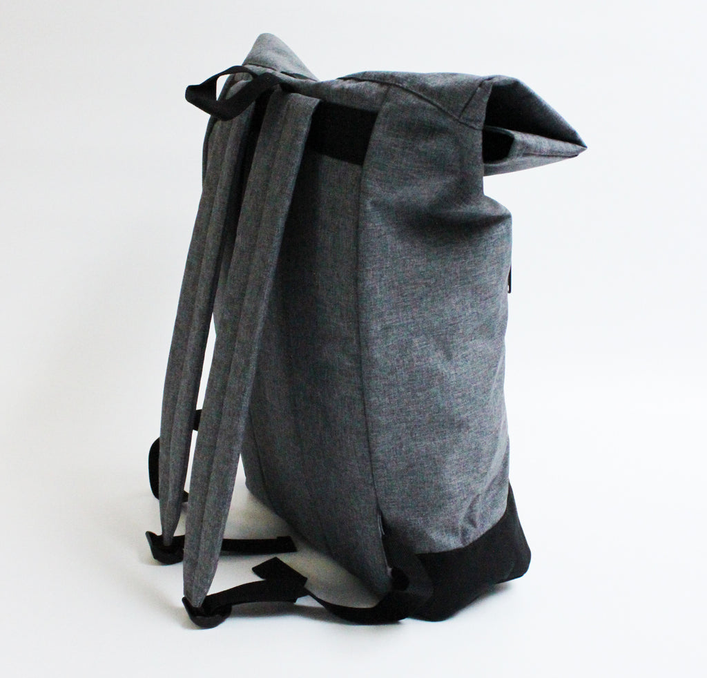 RUCK SACK  | GREY - ANDRO CLOTHING GENDER FLUID ANDROGYNOUS CLOTHES FOR NON-BINARY LESBIAN AND LGBTQ+ FASHION