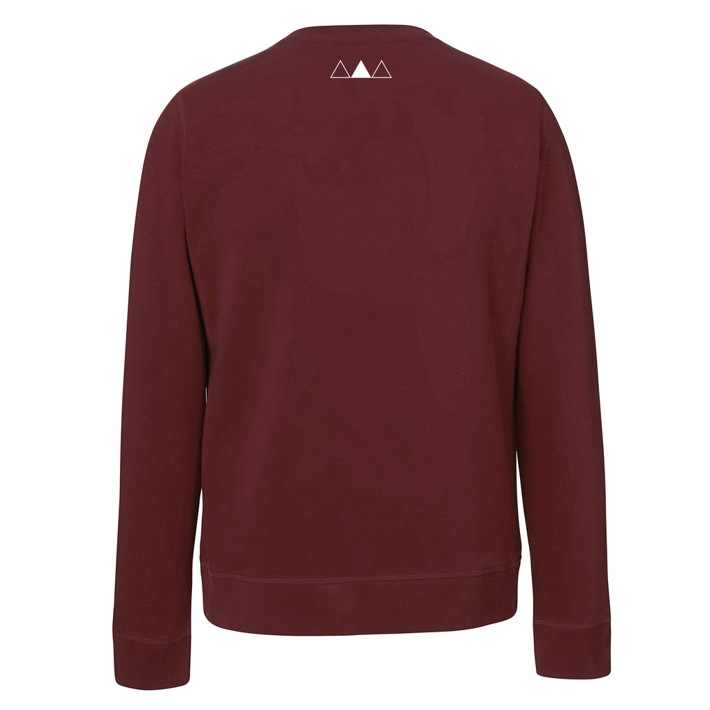 SWEETHEART SWEATER | MAROON - ANDRO CLOTHING GENDER FLUID ANDROGYNOUS CLOTHES FOR NON-BINARY LESBIAN AND LGBTQ+ FASHION