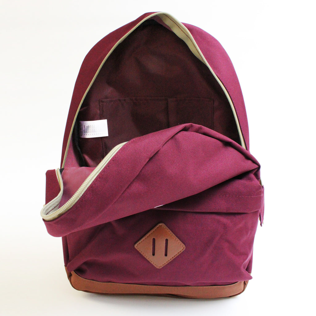 RUCK SACK  | MAROON - ANDRO CLOTHING GENDER FLUID ANDROGYNOUS CLOTHES FOR NON-BINARY LESBIAN AND LGBTQ+ FASHION