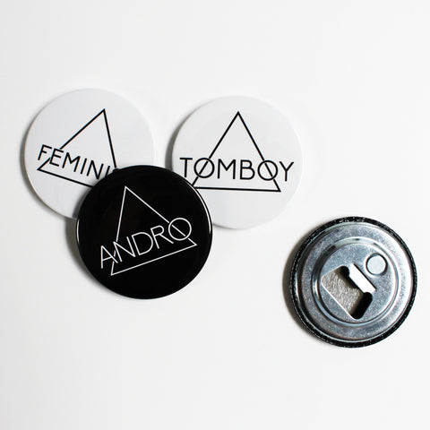 MAGNETIC BOTTLE OPENER | 3 Pack - ANDRO CLOTHING GENDER FLUID ANDROGYNOUS CLOTHES FOR NON-BINARY LESBIAN AND LGBTQ+ FASHION