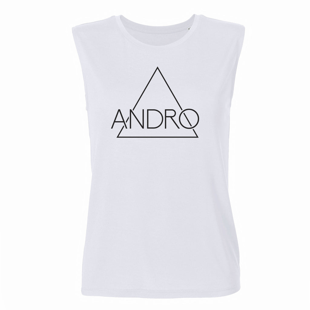 ANDRO TANK | WHITE - ANDRO CLOTHING GENDER FLUID ANDROGYNOUS CLOTHES FOR NON-BINARY LESBIAN AND LGBTQ+ FASHION