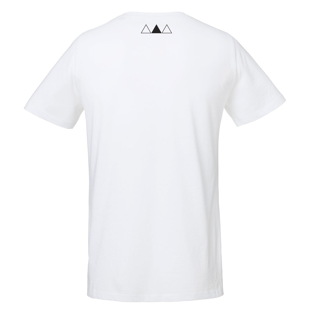 ANDRO COLOUR T-SHIRT | WHITE - ANDRO CLOTHING GENDER FLUID ANDROGYNOUS CLOTHES FOR NON-BINARY LESBIAN AND LGBTQ+ FASHION