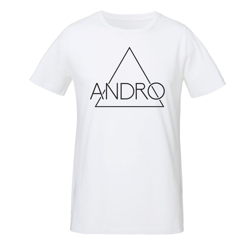 ANDRO T-SHIRT | WHITE - ANDRO CLOTHING GENDER FLUID ANDROGYNOUS CLOTHES FOR NON-BINARY LESBIAN AND LGBTQ+ FASHION