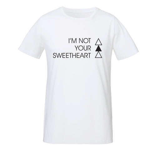 SWEETHEART T-SHIRT | WHITE - ANDRO CLOTHING GENDER FLUID ANDROGYNOUS CLOTHES FOR NON-BINARY LESBIAN AND LGBTQ+ FASHION