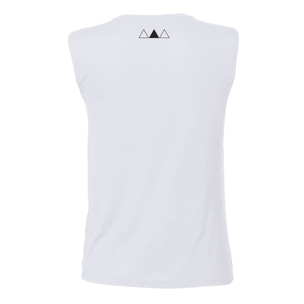 ANDRO COLOUR TANK | WHITE - ANDRO CLOTHING GENDER FLUID ANDROGYNOUS CLOTHES FOR NON-BINARY LESBIAN AND LGBTQ+ FASHION