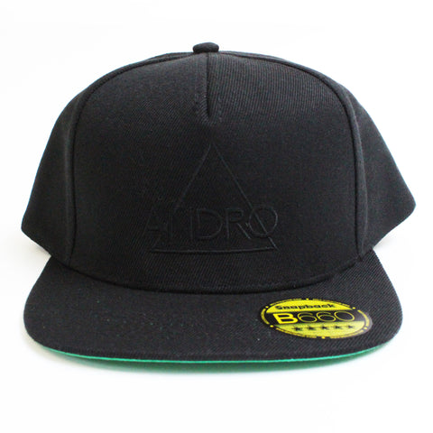 SNAPBACK CAP | BLACK & BLACK - ANDRO CLOTHING GENDER FLUID ANDROGYNOUS CLOTHES FOR NON-BINARY LESBIAN AND LGBTQ+ FASHION