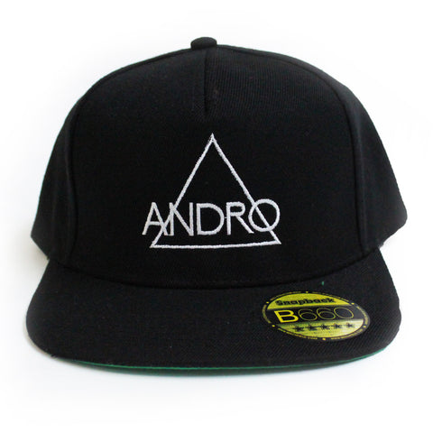 SNAPBACK CAP | BLACK & WHITE - ANDRO CLOTHING GENDER FLUID ANDROGYNOUS CLOTHES FOR NON-BINARY LESBIAN AND LGBTQ+ FASHION