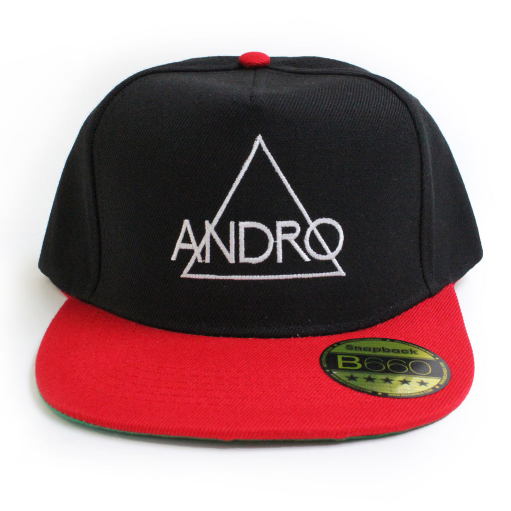 SNAPBACK CAP | RED & WHITE - ANDRO CLOTHING GENDER FLUID ANDROGYNOUS CLOTHES FOR NON-BINARY LESBIAN AND LGBTQ+ FASHION