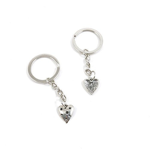 1 Pieces Keychain Door Car Key Chain Tags Keyring Ring Chain Keychain Supplies Antique Silver Tone Wholesale Bulk Lots Y5EU2 Love Heart