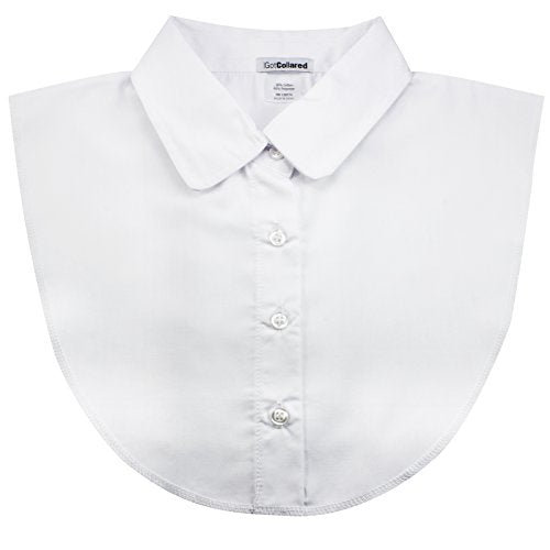 White Women's Peter Pan Dickey Collar by USA-Based IGotCollared (aka Dicky Collar, Detachable, Fake Blouse Collar)