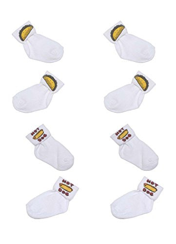 Summer of Fun Baby Boys Sock Set B (Taco-Hot Dog, 4-5 1/2)