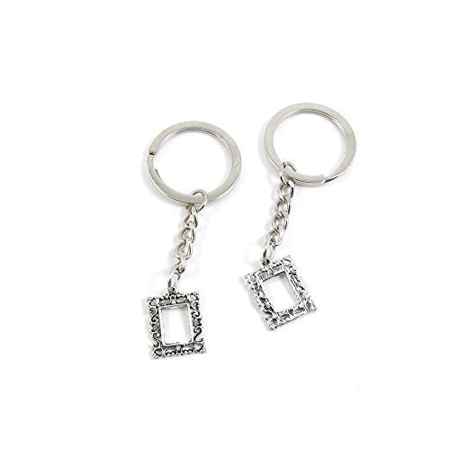 1 Pieces Keychain Door Car Key Chain Tags Keyring Ring Chain Keychain Supplies Antique Silver Tone Wholesale Bulk Lots P3RQ4 Pattern Frame