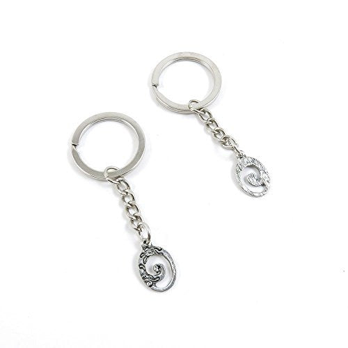 1 Pieces Keychain Door Car Key Chain Tags Keyring Ring Chain Keychain Supplies Antique Silver Tone Wholesale Bulk Lots L2DR9 Oval Flower Signs