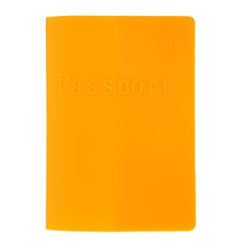 Passport ID Card Protector Silicone Rubber Holder for EU US Passport Orange