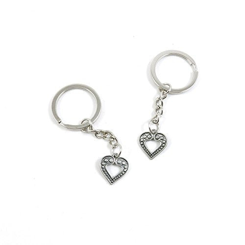 1 Pieces Keychain Door Car Key Chain Tags Keyring Ring Chain Keychain Supplies Antique Silver Tone Wholesale Bulk Lots W0FF2 Peach Heart