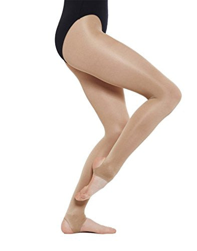 Silky Women's 1 Pair Dance Shimmer Stirrup Tights Large Light Toast