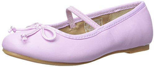Polo Ralph Lauren Kids Nellie Leather Ballet Flat (Toddler/Little Kid/Big Kid), Orchid, 6 M US Toddler