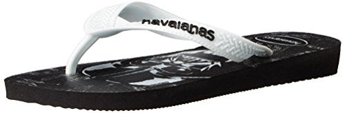 Havaianas Kids Star Wars Sandal Flip Flops (Toddler/Little Kid), Black/White, 33-34 BR(3, 4 M US Little Kid)