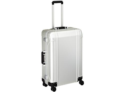 Zero Halliburton Geo Aluminum 26 Inch 4 Wheel Spinner Travel Case, Silver, One Size