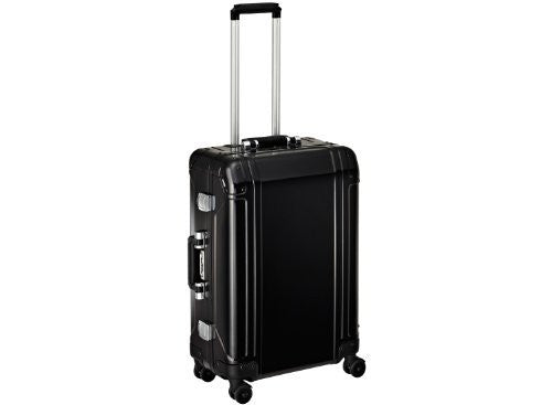 Zero Halliburton Geo Aluminum 24 Inch 4 Wheel Spinner Travel Case, Black, One Size