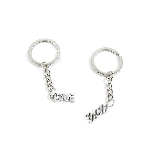 1 Pieces Keychain Door Car Key Chain Tags Keyring Ring Chain Keychain Supplies Antique Silver Tone Wholesale Bulk Lots L1EO3 LOVE