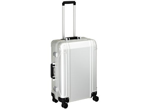 Zero Halliburton Geo Aluminum 24 Inch 4 Wheel Spinner Travel Case, Silver, One Size