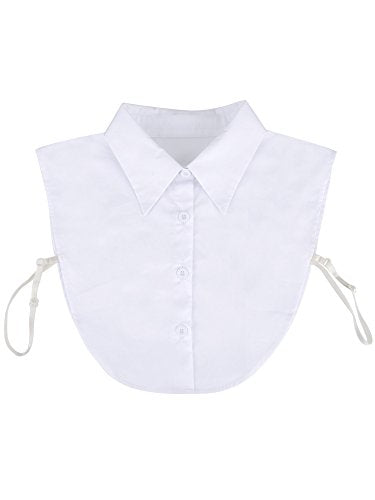 eBoot Fake Collar Detachable Dickey Collar Blouse Half Shirts False Collar for Girls and Women, White