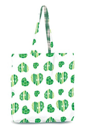 Love It Reversible Tote Bag Soccer White/Green