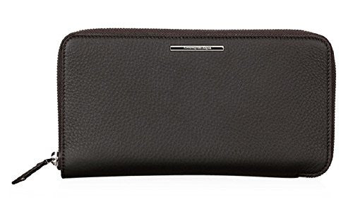 Ermenegildo Zegna Grained Leather Travel Wallet (One Size, Brown)