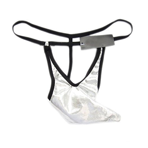 Demarkt Sexy Men's G-string Thong Pouch T-back Underpants Brief (White)