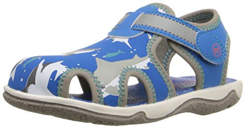 Stride Rite Koy Sandal (Toddler/Little Kid), Blue Shark, 9 M US Toddler