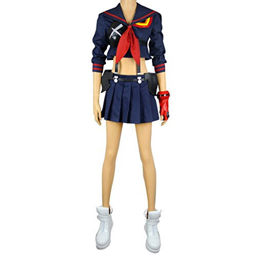 Mtxc Women's KILL la KILL Cosplay Ryuko Matoi Outfit Size Medium Blue