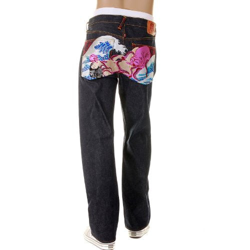 RMC JEANS The Dream of the Fisherman's Wife Octopus multi colour jean REDM2967
