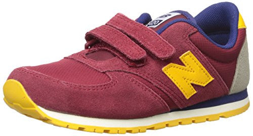 New Balance KE420V1 Classic Youth Oxford (Little Kid/Big Kid), Burgundy/Yellow, 5 M US Big Kid