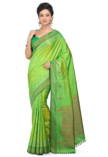 Pure Silk Kanchipuram Saree in Green