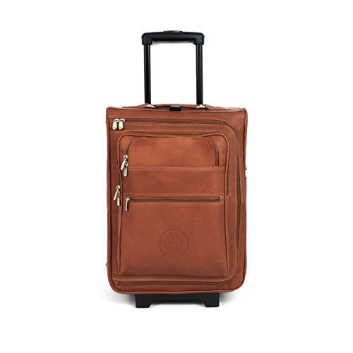 Brescia 19in Leather Wheeled Suitcase
