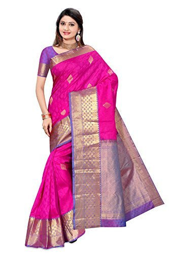 KANCHIPURAM PURE SILK EMBOSE & ZARI FANCY SAREE