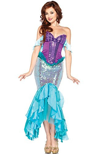 Mememall Fashion Mermaid Princess Deluxe Ariel Adult Costume