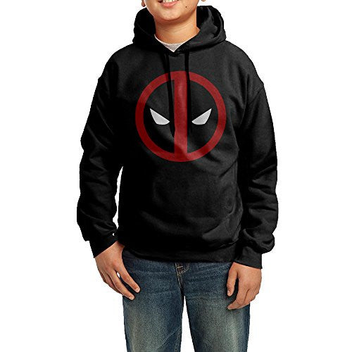 Telle AH Custom Deadpool Emblem By James Boys Girls Youth Kids Hooded Sweatshirt