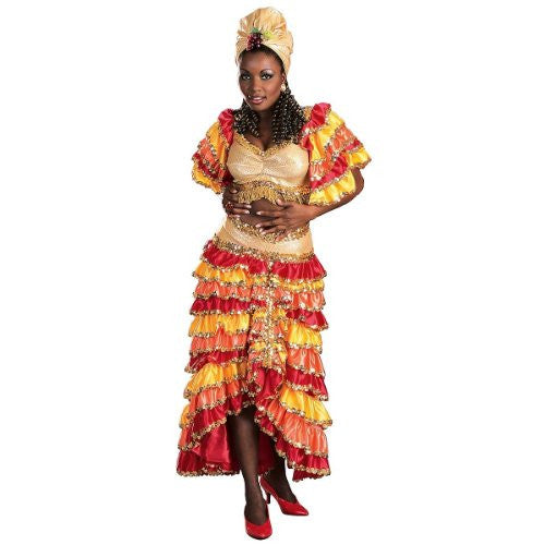 Regency Deluxe Rumba Girl Costume - Medium - Dress Size