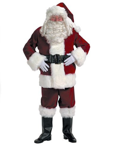 Professional Velvet Santa Claus Suit Xxxl With FREE Wig and Beard!
