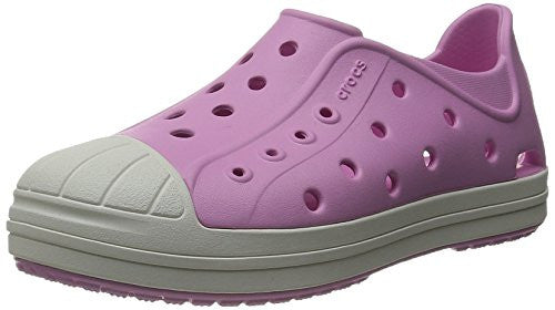 crocs Bump It Shoe Slip-On Shoe (Toddler/Little Kid), Carnation/Oyster, 9 M US Toddler