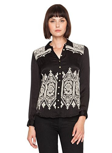 3J Workshop by Johnny Was Lizette Button Back Silk Shirt (Large)