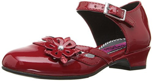 Rachel Shoes Girls' Lil Jenni Wedge, Red Patent, 10 M US Toddler