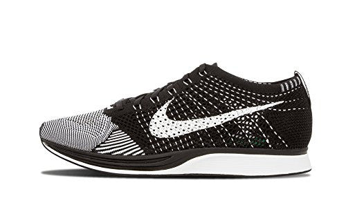 Nike Men's Flyknit Racer, BLACK/WHITE, 10.5 M US